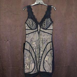 Bebe Black Lace Bodycon Dress